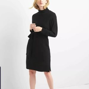 Gap wool-blend funnel neck sweater dress